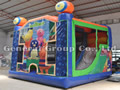 GB-300 Bounce house with slide combo
